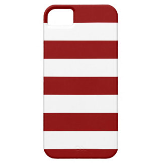 Stripes - White and Dark Red iPhone SE/5/5s Case