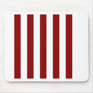 Stripes - White and Dark Red Mousepad