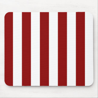 Stripes - White and Dark Red Mousepads