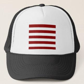 Stripes - White and Dark Red Trucker Hat