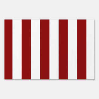 Stripes - White and Dark Red Signs