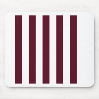 Stripes - White and Dark Scarlet Mousepads