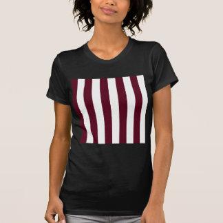 Stripes - White and Dark Scarlet T-Shirt