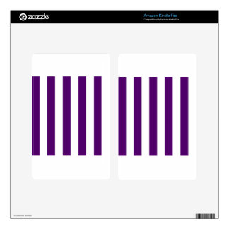 Stripes - White and Dark Violet Decals For Kindle Fire
