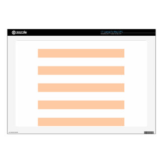 Stripes - White and Deep Peach Laptop Decal