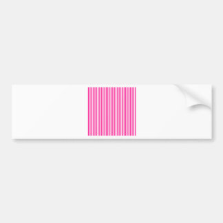 Stripes - White and Deep Pink Bumper Sticker