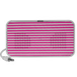 Stripes - White and Deep Pink Travelling Speaker