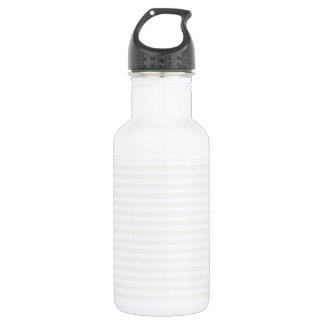 Stripes - White and Eggshell Stainless Steel Water Bottle