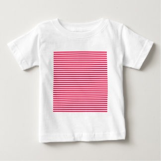 Stripes - White and Electric Crimson Baby T-Shirt