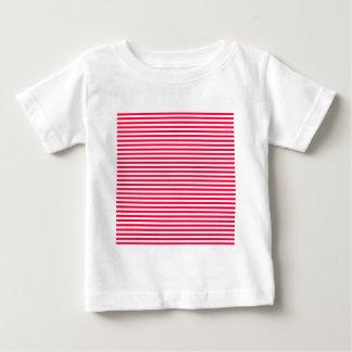 Stripes - White and Electric Crimson Tee Shirt