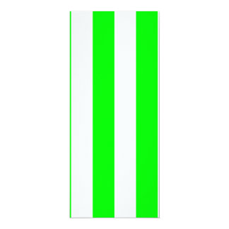 Stripes - White and Electric Green Invitations