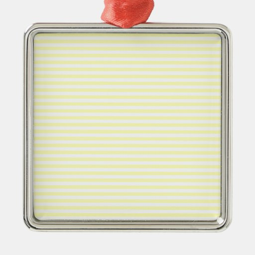 Stripes - White and Electric Yellow Ornaments