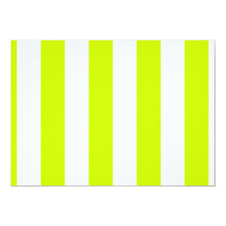 Stripes - White and Fluorescent Yellow Card