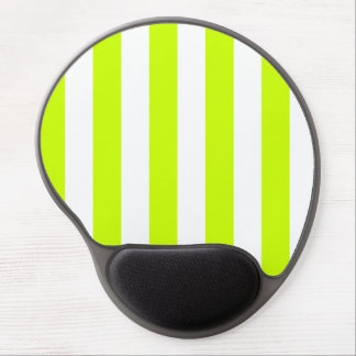 Stripes - White and Fluorescent Yellow Gel Mouse Mat