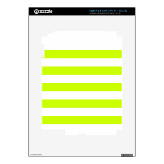 Stripes - White and Fluorescent Yellow iPad 3 Skin