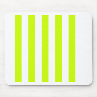 Stripes - White and Fluorescent Yellow Mousepad