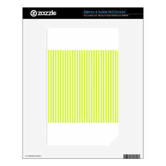 Stripes - White and Fluorescent Yellow NOOK Color Skins