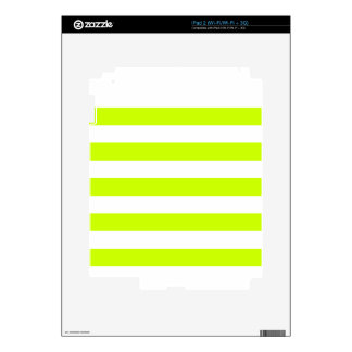 Stripes - White and Fluorescent Yellow Skins For The iPad 2