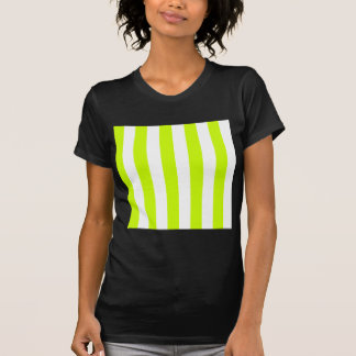 Stripes - White and Fluorescent Yellow T Shirts