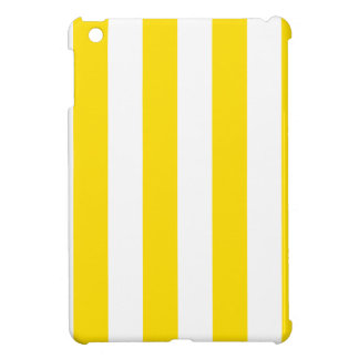 Stripes - White and Golden Yellow Cover For The iPad Mini
