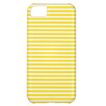 Stripes - White and Golden Yellow iPhone 5C Covers