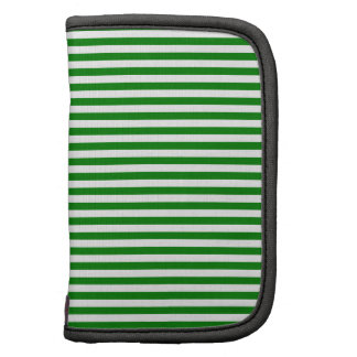 Stripes - White and Green Folio Planners