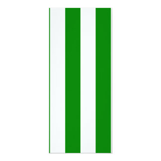 Stripes - White and Green Personalized Invitations