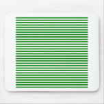 Stripes - White and Green Mouse Pad
