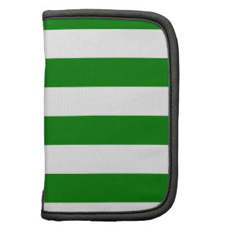 Stripes - White and Green Planner