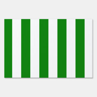 Stripes - White and Green Signs