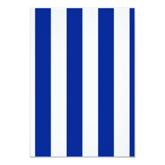 Stripes - White and Imperial Blue 3.5x5 Paper Invitation Card