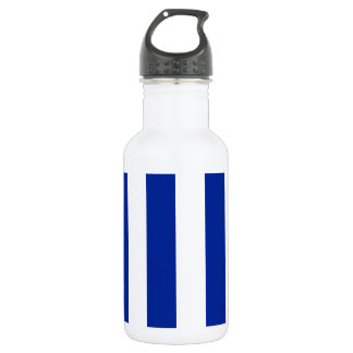 Stripes - White and Imperial Blue Water Bottle