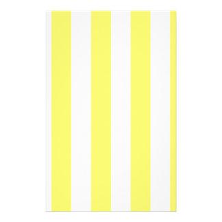 Stripes - White and Lemon Stationery Paper
