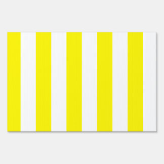 Stripes - White and Lemon Yard Signs