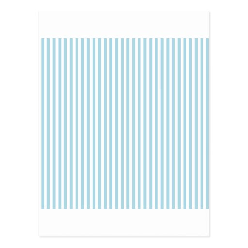 Stripes - White and Light Blue Postcard