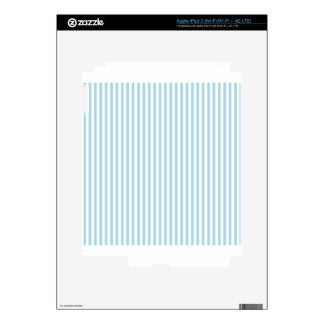Stripes - White and Light Blue Skins For iPad 3