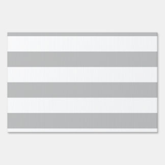 Stripes - White and Light Gray Signs