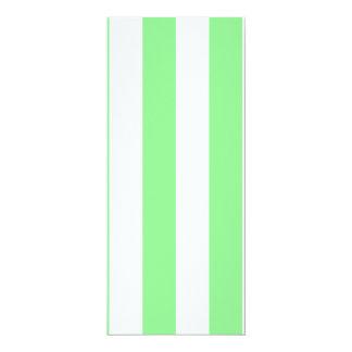 Stripes - White and Light Green Custom Announcement