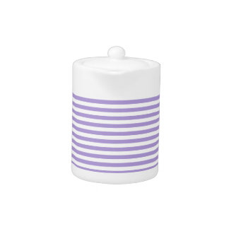Stripes - White and Light Pastel Purple