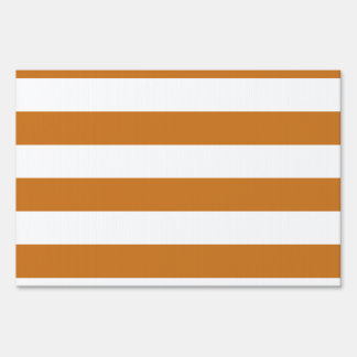Stripes - White and Ochre Yard Signs