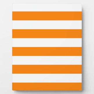 Stripes - White and Orange Plaque