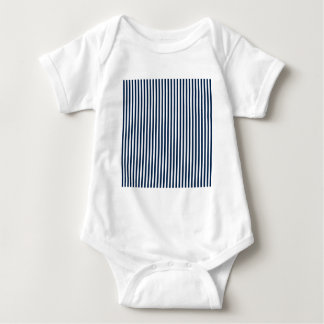Stripes - White and Oxford Blue Baby Bodysuit