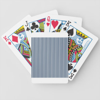 Stripes - White and Oxford Blue Playing Cards