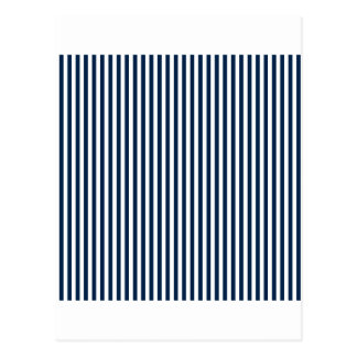 Stripes - White and Oxford Blue Postcard