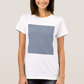 Stripes - White and Oxford Blue T-Shirt