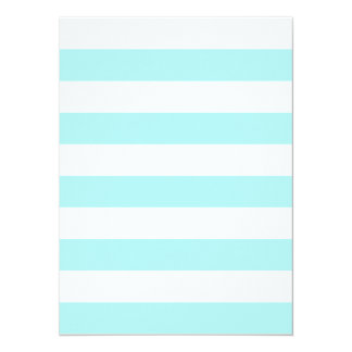 "Stripes - White and Pale Blue 5.5"" X 7.5"" Invitation Card"