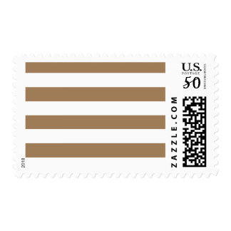 Stripes - White and Pale Brown Postage