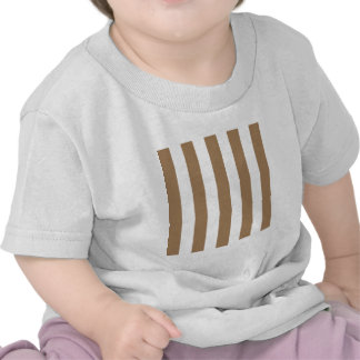 Stripes - White and Pale Brown T-shirts