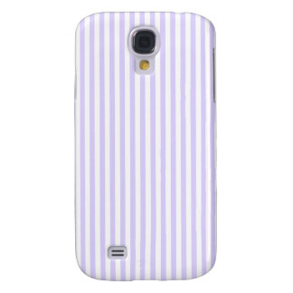 Stripes - White and Pale Lavender Galaxy S4 Case