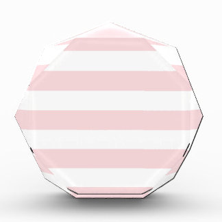 Stripes - White and Pale Pink Acrylic Award